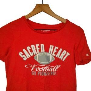 4/$25 Champion Sacred Heart Football Wmns T Shirt